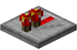 Redstone repeater active